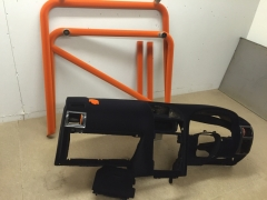 Vauxhall dash and roll cage flocked in black & orange