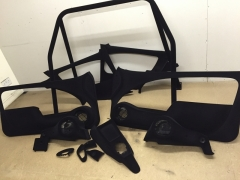 Saxo modified door cards and speaker pods after flocking
