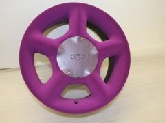 Flocked wheel