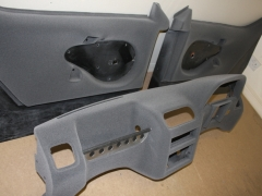 Shelsley T2 car dash and door cards flocked in our grey