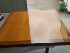 Tables in for re-lacquer