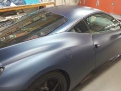 Ferrari 458 rear end paint in a matt finnish